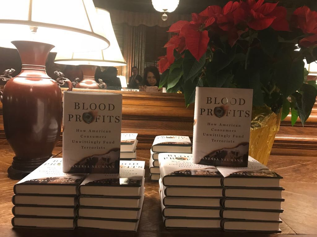At My Metropolitan Club DC Book Launch For Blood Profits