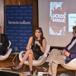 """Lanzamiento de """"Lucros de Sangue"""" en São Paulo con Marcio Sergio Christino"""