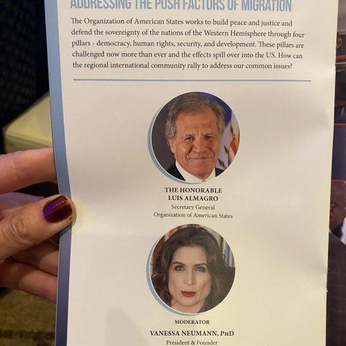 Mi evento con Almagro en el programa oficial.